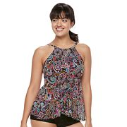 Women's A Shore Fit Tummy Slimmer High-Neck Tankini Top