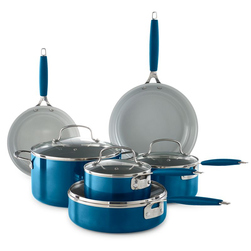 Food Network™ 10-pc. Ceramic Cookware Set, Blue