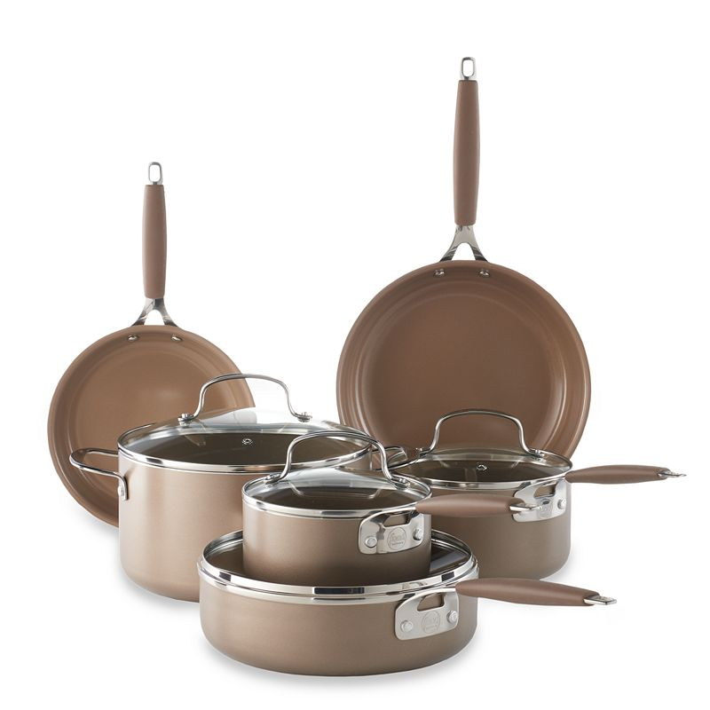 Food Network™ 10-pc. Ceramic Cookware Set, Brown