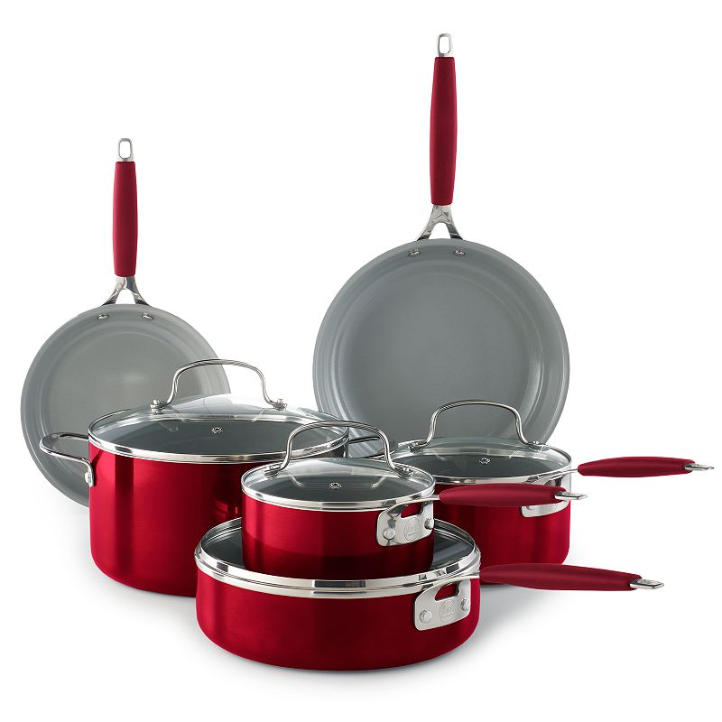 Food Network™ 10-pc. Ceramic Cookware Set, Red