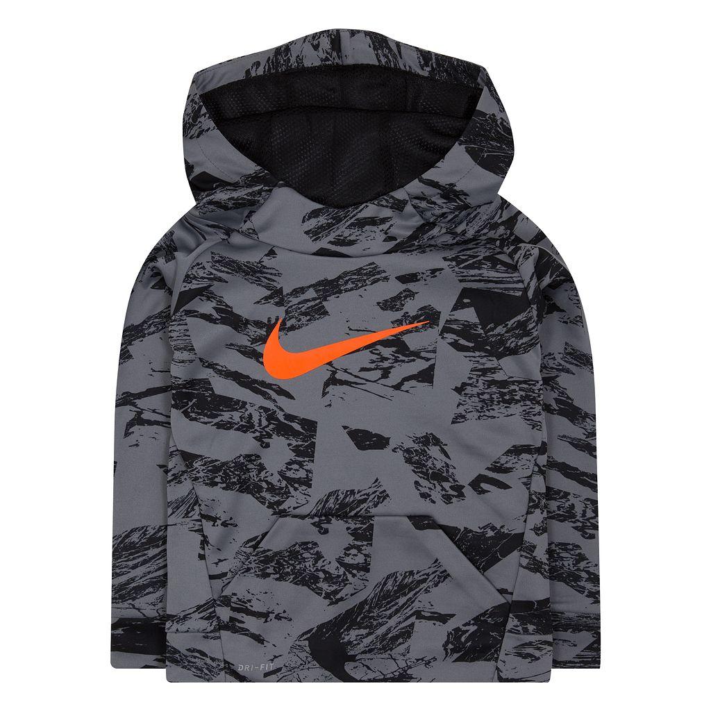 Boys 4-7 Nike Therma Abstract Logo Raglan Pullover Hoodie