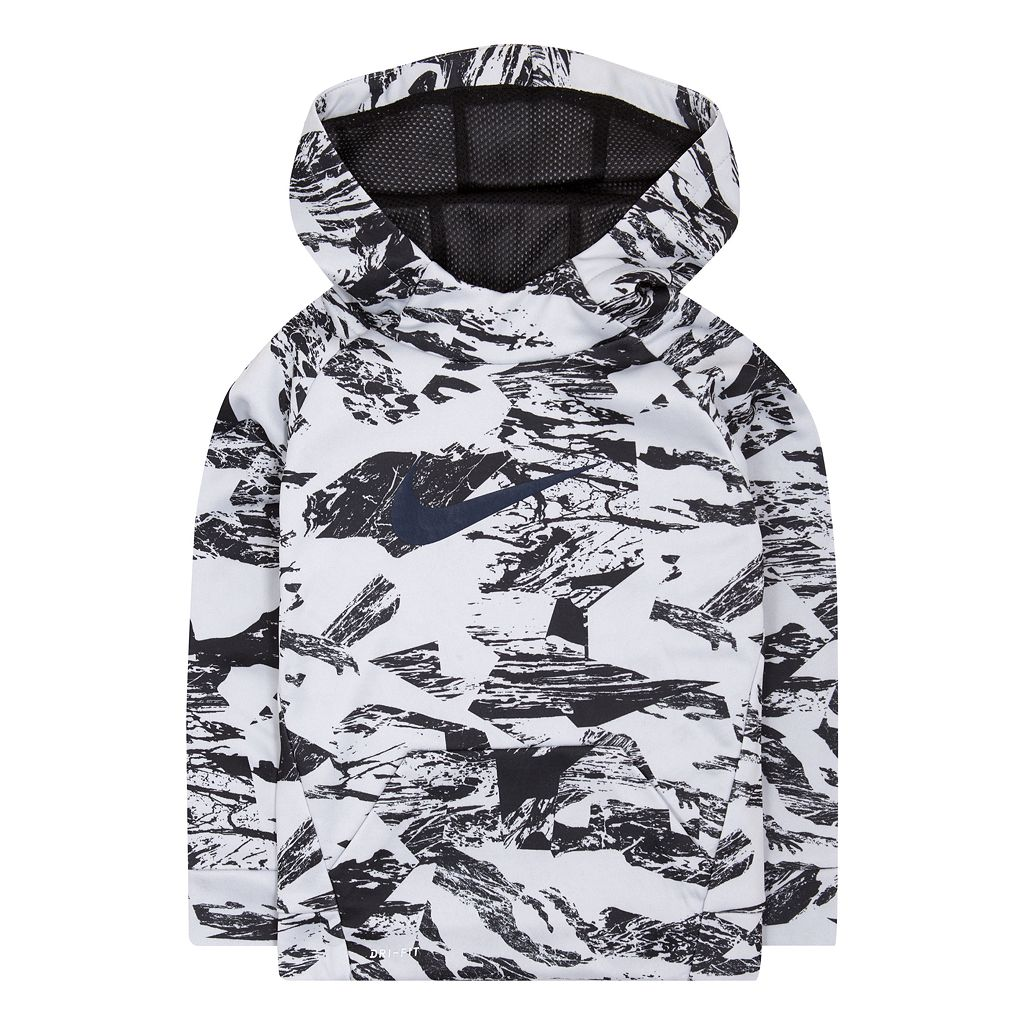 Boys 4-7 Nike Therma Abstract Logo Raglan Pullover Hoodie