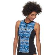 Women's A Shore Fit Tummy Slimmer Sleeveless Rash Guard
