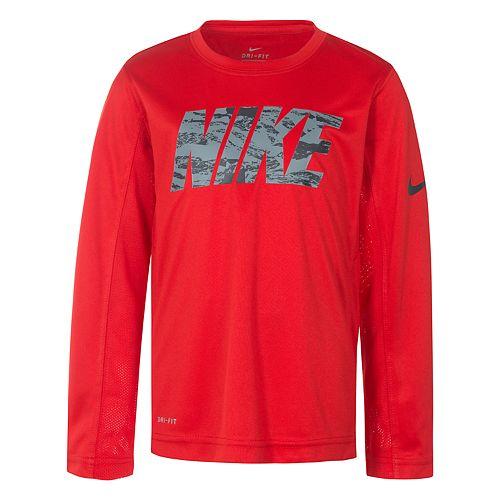Boys 4-7 Nike Dri-FIT Mesh Paneled Graphic Tee