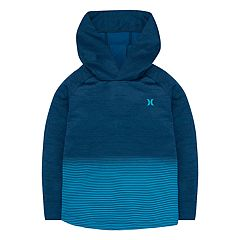 Boys 4-7 Hurley Dri-FIT Striped Pullover Hoodie