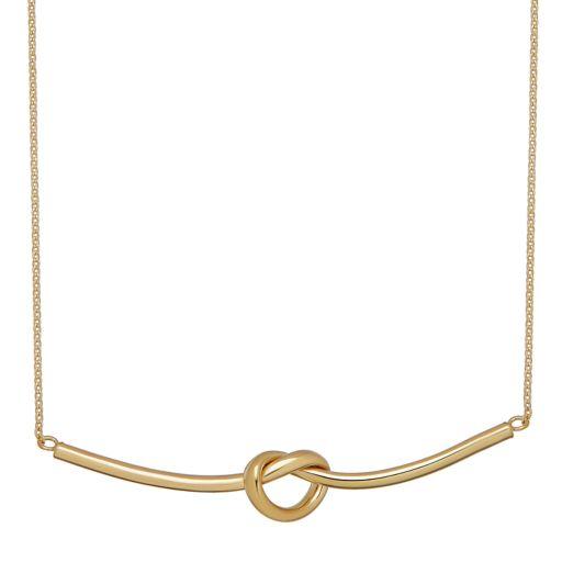 Everlasting Gold 10k Knot Necklace