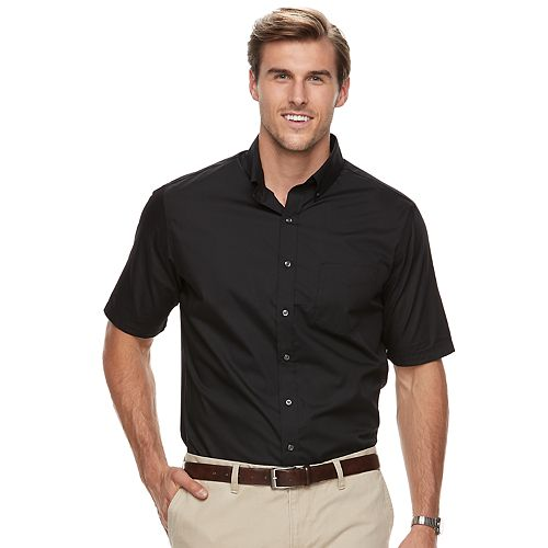 Big & Tall Croft & Barrow® Regular-Fit Solid Easy-Care Button-Down Shirt