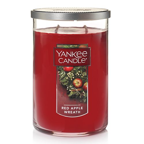Yankee Candle Red Apple Wreath Tall 22-oz. Large Candle Jar