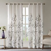 Madison Park Vera Burnout Printed Window Curtain