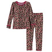 Toddler Girl Cuddl Duds 2 pc Printed Base Layer Top & Pants Set