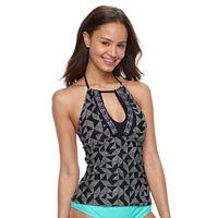 Geometric Halter Bikini Top