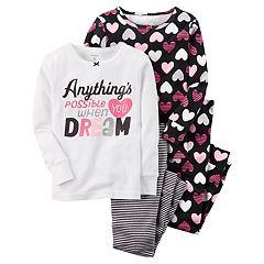 Girls 4-14 Carter's 4 pc 'Dream' Top & Bottom Pajama Set