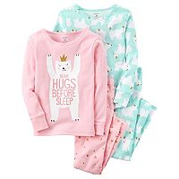 Girls 4-14 Carter's 4-pc. Polar Bear Top & Bottom Pajama Set