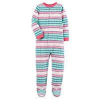Girls 4-14 Carter's Heart Patterned Footed Pajamas