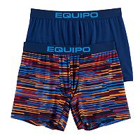 Men's equipo 2-pack Striped Microfiber Stretch Performance Boxer Briefs