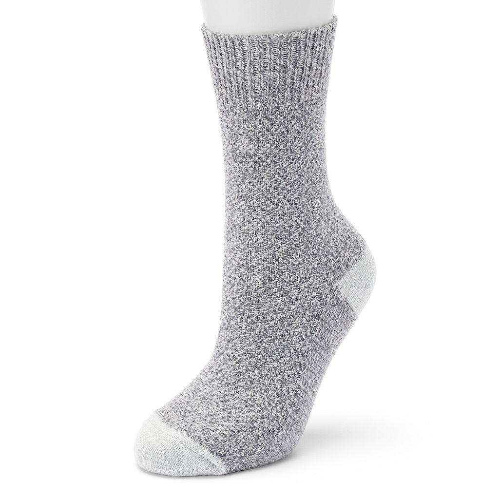 Women's Cuddl Duds Seed Stitch Crew Socks
