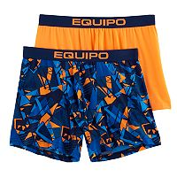 Men's equipo 2-pack Geometric & Solid Microfiber Stretch Performance Boxer Briefs