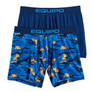 Men's equipo 2-pack Camo & Solid Performance Sport Mesh Boxer Briefs