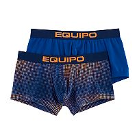 Men's equipo 2-pack Grid & Solid Microfiber Stretch Brazilian Trunks