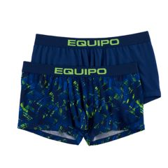 Men's equipo 2-pack Geometric & Solid Stretch Performance Trunks