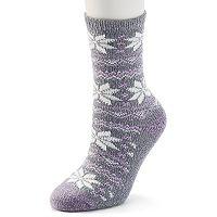 Women's Cuddl Duds Snowflake Fairisle Crew Socks