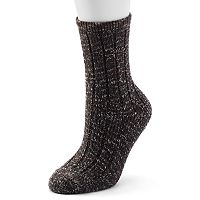 Women's Cuddl Duds Ribbed Crew Socks