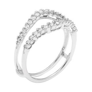 14k White Gold 3/8 Carat T.W. Diamond Enhancer Wedding Ring