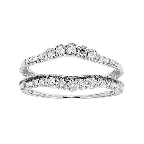 14k Gold 3/8 Carat T.W. Diamond Enhancer Wedding Ring
