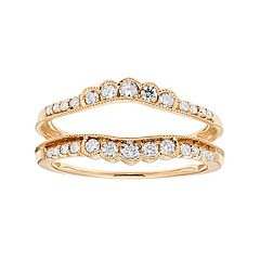 14k Gold 3/8 Carat T.W. Diamond Enhancer Wedding Ring