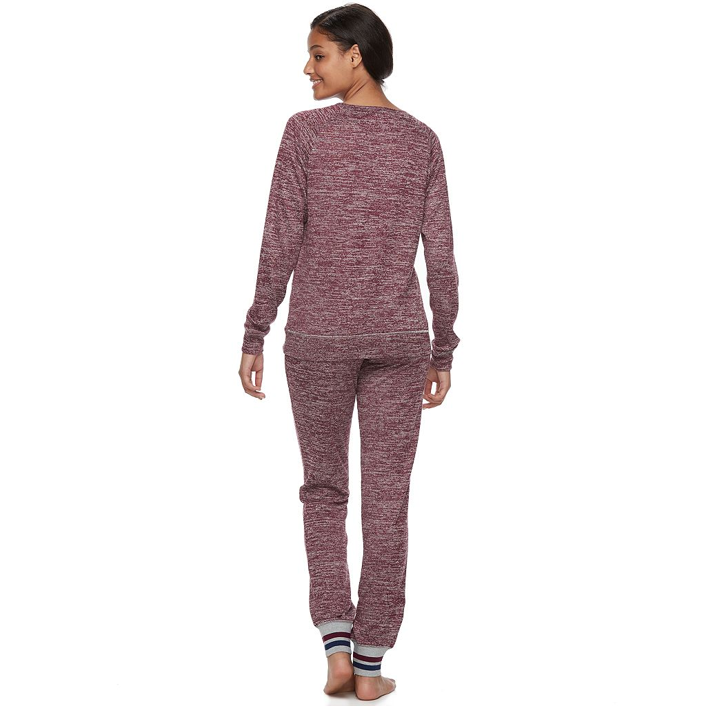 Juniors' Sleep Riot Pajamas: Sweater-Knit Jogger Pants & Top 2-Piece PJ Set