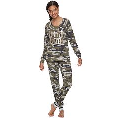 Juniors' Sleep Riot Pajamas: Sweater-Knit Jogger Pants & Top 2 pc PJ Set