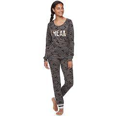 Juniors' Sleep Riot Pajamas: Sweater-Knit Jogger Pants & Top 2-Piece PJ Set