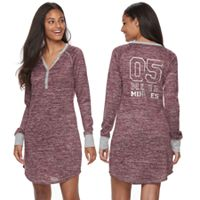 Juniors' Sleep Riot Pajamas: Sweater-Knit Henley Sleep Shirt