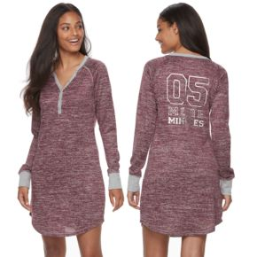 Juniors' Sleep Riot Pajamas: Sweater-Knit Henley Sleep Shirt