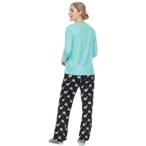 Women's SONOMA Goods for Life? Pajamas: Top, Pants & Socks 3-Piece PJ Set