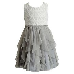 Girls 7-16 Emily West Glitter Waterfall Dress