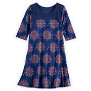 Girls 7-16 & Plus Size Mudd® Crochet Yoke Dress