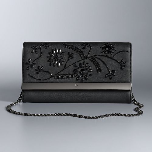 Simply Vera Vera Wang 10th Anniversary Floral Beaded Flap Clutch