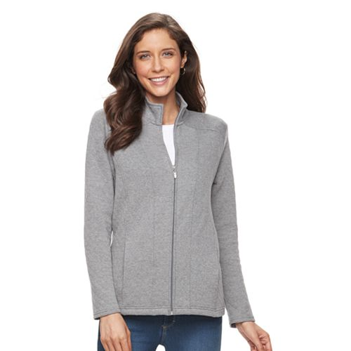 Women's Croft & Barrow® Quilted Long Sleeve Jacket