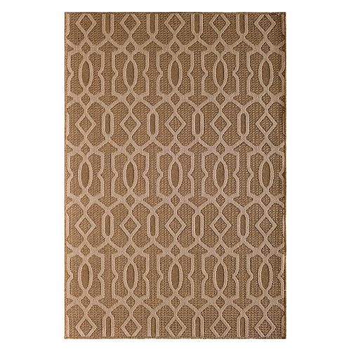 Natco Santorini Intertwined Fretwork Indoor Outdoor Rug