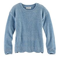 Girls 7-16 & Plus Size Cloud Chaser Chenille Scalloped Sweater