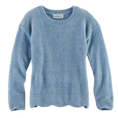 Girls 7 16 Plus Size Cloud Chaser Chenille Scalloped Sweater
