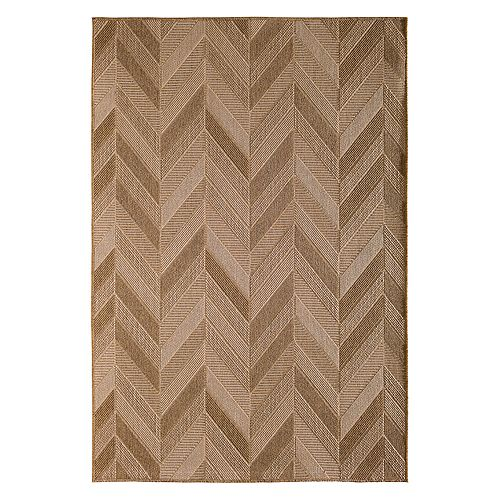 Natco Santorini Para Patch Chevron Indoor Outdoor Rug