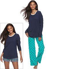 Juniors' SO® Pajamas: Knit Pants, Shorts & Top 3 pc PJ Set