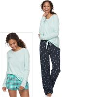 Juniors' SO® Pajamas: Knit Pants, Shorts & Top 3-Piece PJ Set