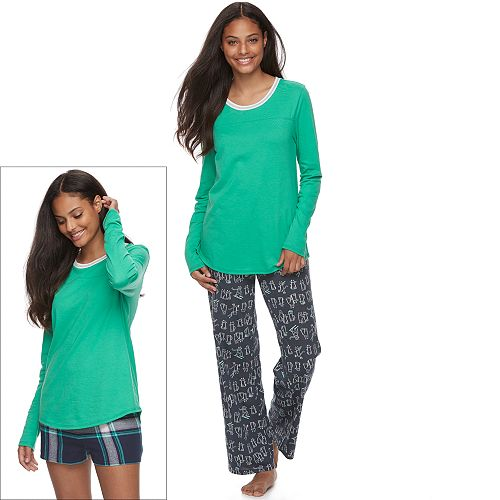 Juniors' SO® Pajamas: Knit Pants, Shorts & Top 3-Piece PJ Set