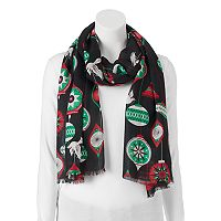 Apt. 9® Christmas Ornaments Pashmina Oblong Scarf