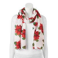 Apt. 9® Watercolor Poinsettia Pashmina Oblong Scarf