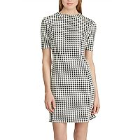 Women's Chaps Houndstooth Jacquard Shift Dress