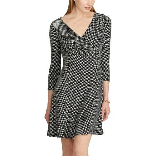 Women's Chaps Dot Fit & Flare Dress